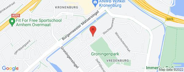 Map van Slochterenweg 222 Arnhem in Nederland