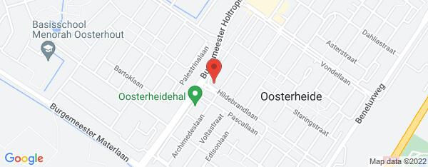Map van Hildebrandlaan 5 Oosterhout in Nederland