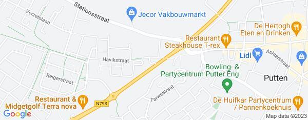 Map van Nijkerkerstraat 4 Putten in Nederland
