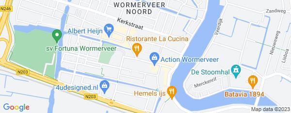 Map van Marktstraat 54 Wormerveer in Nederland